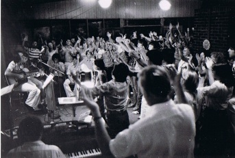 Friday Night Worship at Bezek Centre 1976