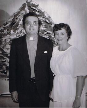 Mrs and Mr Reverend Warren 1970