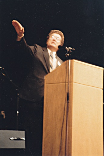 """Bernard Warren teaches at the All-Ontario Holy Spirit Conference in 1987."""
